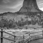 Devil's Tower in Black and White