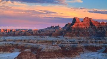 Badlands Sunset