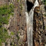 Waterfall at Western Brook Pond