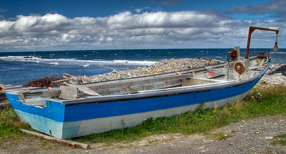 Commercial fishing boat in Newfoundland