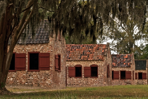 Slave Cabins at Boone Hall Plantation, Charleston, South Carolina