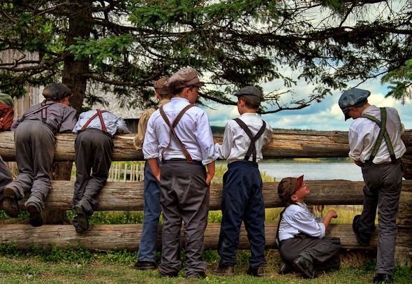 Boys at King's Landing, New Brunswick