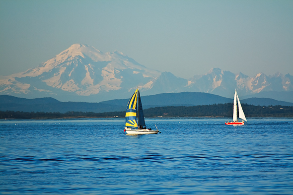 Sailing in Victoria, British Columbia