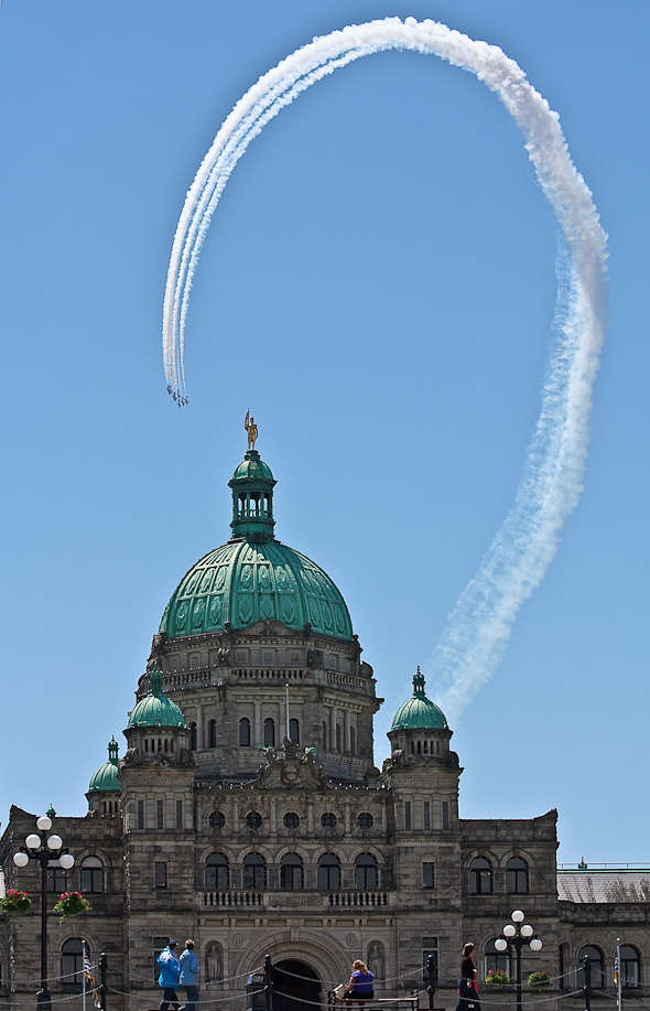 Snowbirds at the Legislature, Victoria, British Columbia