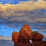 Twin Rocks at Capitol Reef