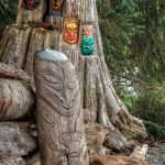 Driftwood Carving, Rebecca Spit, Quadra Island, BC
