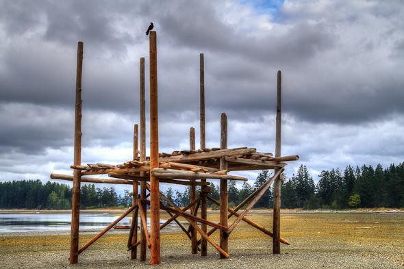 Raft, Rebecca Spit, Quadra Island, BC