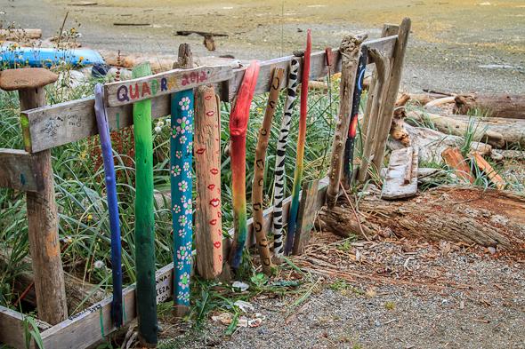 Driftwood Fence, Rebecca Spit, Quadra Island, BC