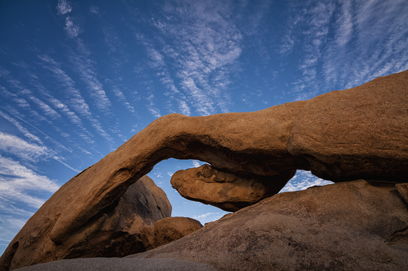 Arch Rock, Joshue Tree National Park, California.