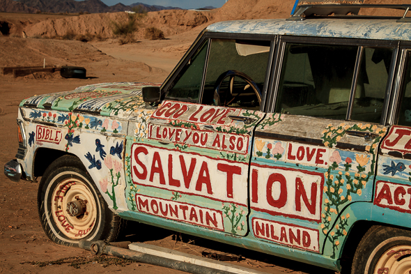 Car at Salvation Mountain, Slab City, California