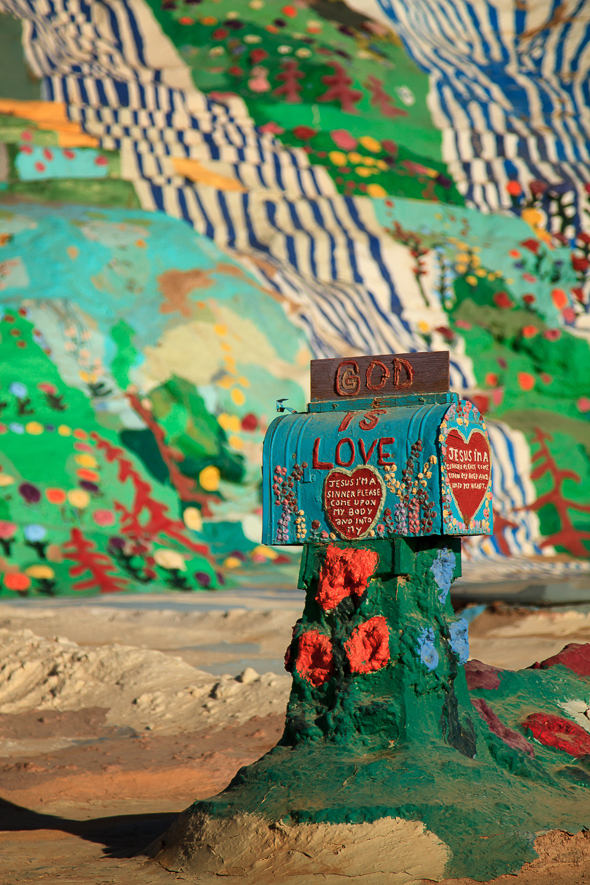 Mailbox at Salvation Mountain, Slab City, California