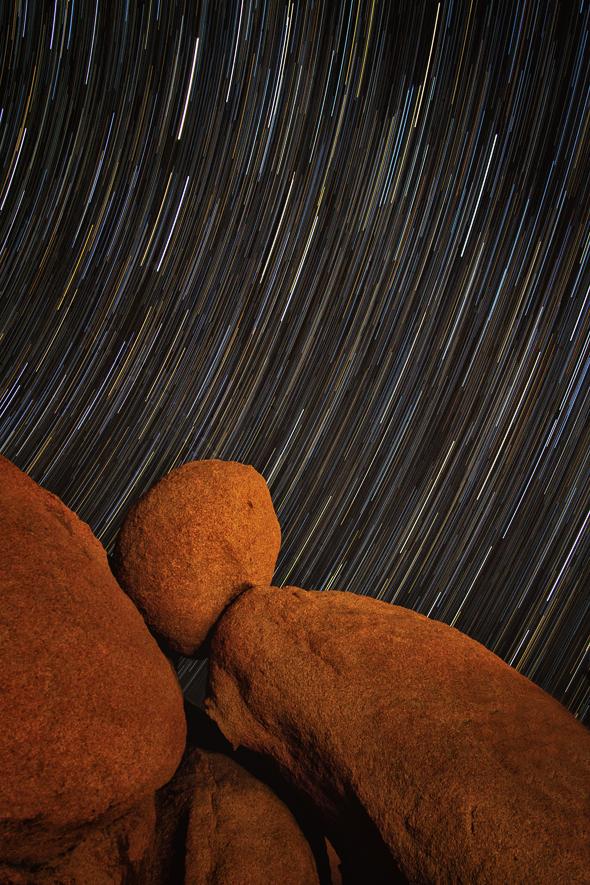 Joshua Tree National Park Star Trails, California
