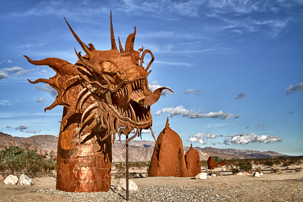 Serpent Sculpture, Borrego Springs, California