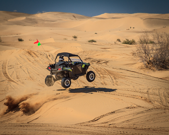 Dune buggy at Imperial Sand Dunes, California, by Anne McKinnell