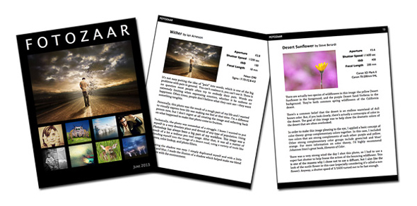 Fotozaar eBook spread.