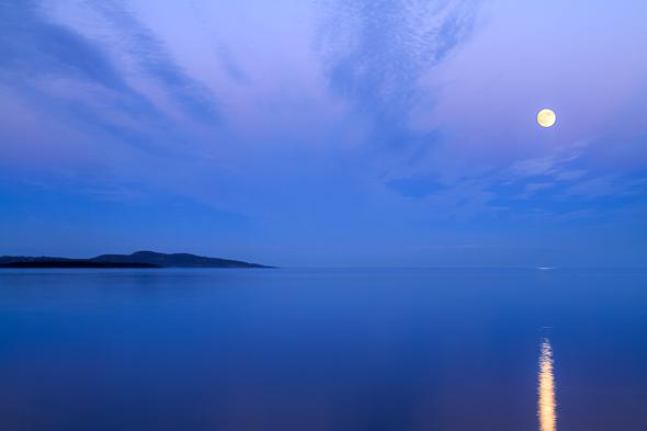 Calm Ocean Moonrise