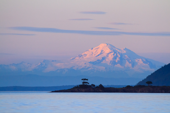 Sunset on Mount Baker