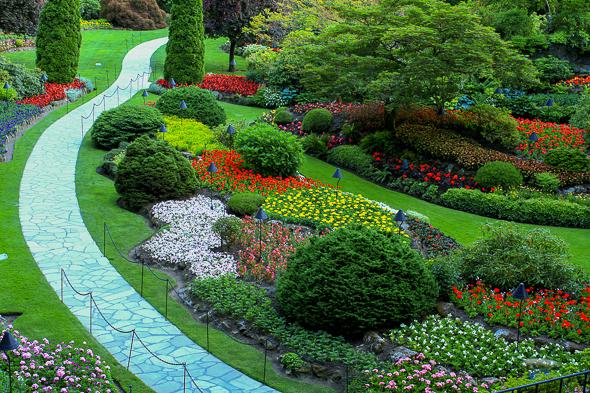Sunken garden at Butchart Gardens, Victoria, British Columbia