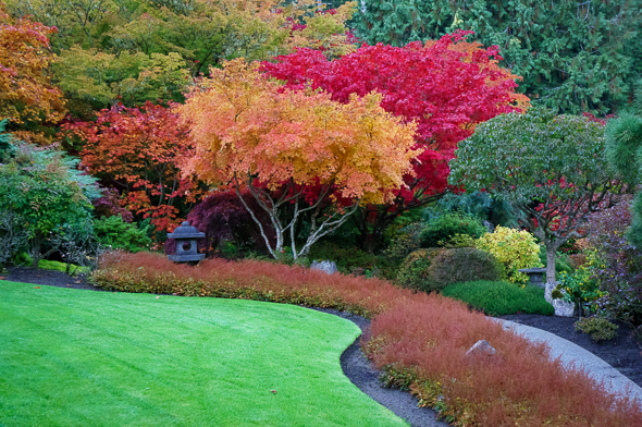 Japanese garden at Butchart Gardens in Victoria, British Columbia