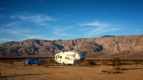 Boondocking in Anza Borrego State Park, California by Anne McKinnell
