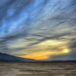 Sunrise at Clark Dry Lake, Anza Borrego
