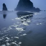 Cannon Beach, Oregon, in the Fog