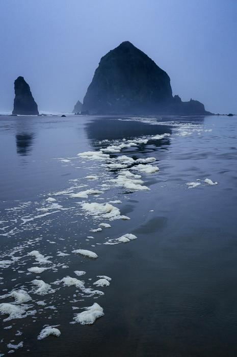 Cannon Beach, Oregon, In The Fog