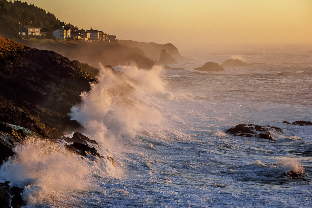 Sunset at Depoe Bay, Oregon, by Anne McKinnell