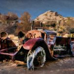Abandoned car in Joshua Tree National Park by Anne McKinnell