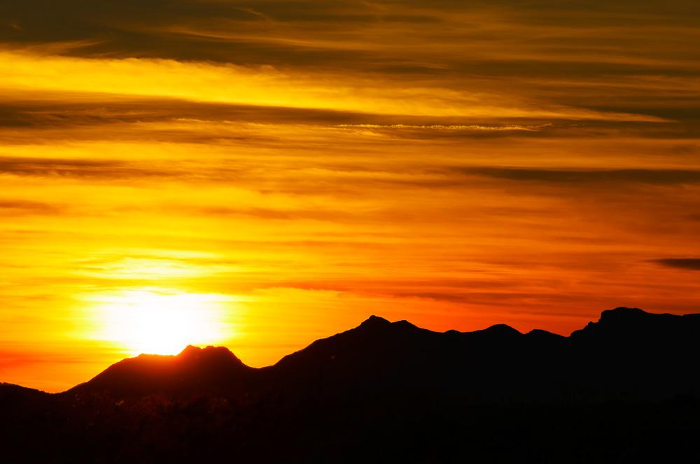 Sunset on Sleeping Princess by Anne McKinnell