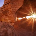 Sunburst in the Valley of Fire State Park, Nevada, by Anne McKinnell