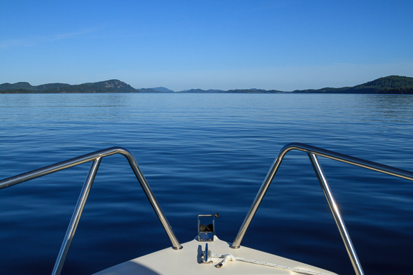 Boating in British Columbia Gulf Islands