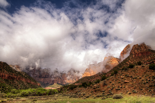 Towers of the Virgin, Zion National Park, Utah, by Anne McKinnell