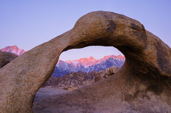 Mobius Arch in Alabama Hills near Lone Pine, California by Anne McKinnell