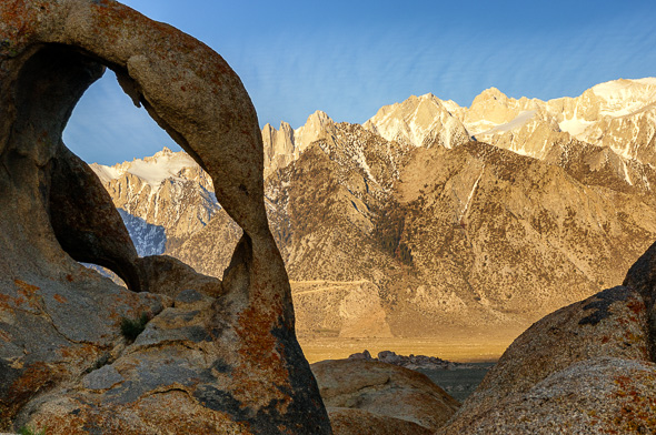 Arch in Alabama Hills, California, by Anne McKinnell.