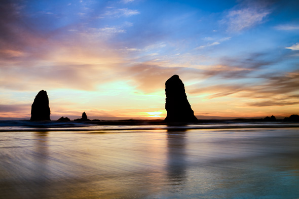 Cannon Beach, Oregon, at sunset by Anne McKinnell