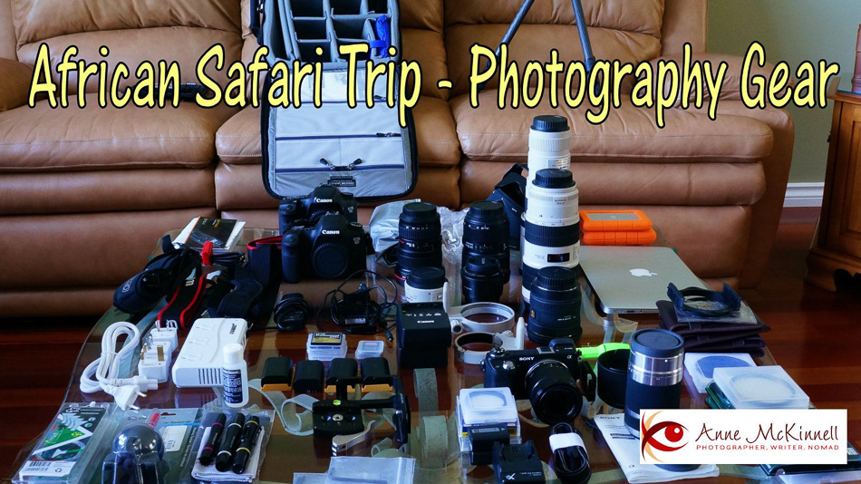 Camera gear for African photo safari