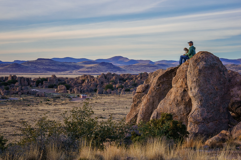Ray and Angie at City of Rocks by Anne McKinnell
