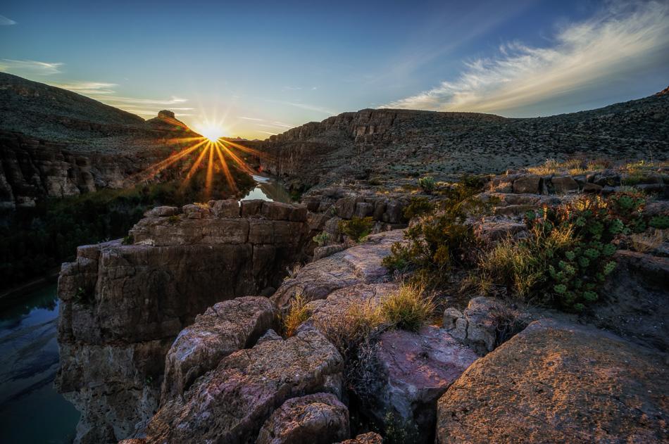 Rio Grande Sunset by Anne McKinnell