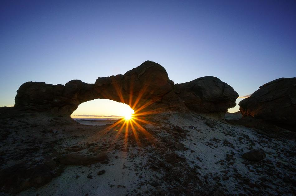 Bisti Arch Sunburst by Anne McKinnell