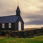 Iceland: Budir Black Church and Lava Fields