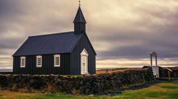 Budir Black Church by Anne McKinnell