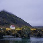 White House in Arnarstapi Harbor, Iceland by Ann McKinnell
