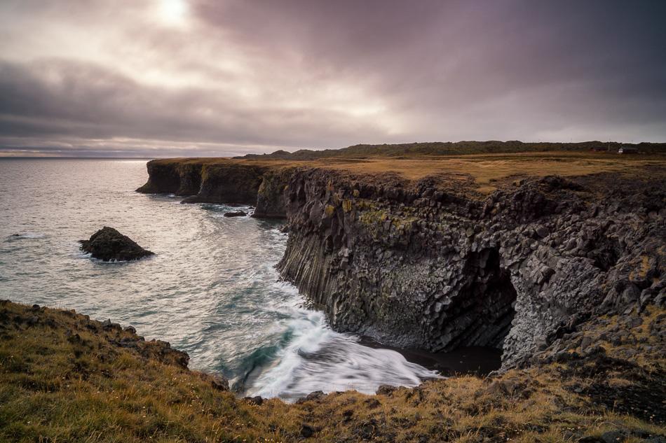 Arnarstapi Sea Cliff by Anne McKinnell