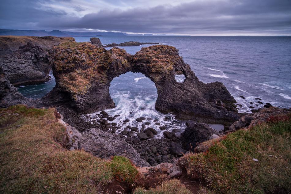 Gatklettur Iceland by Anne McKinnell