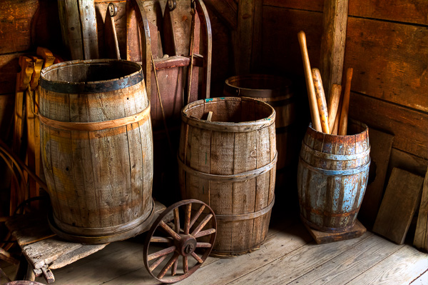 Backroom Barrels by Anne McKinnell