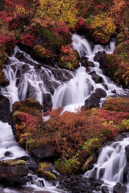 Hraunfosser Waterfall, Iceland by Anne McKinnell