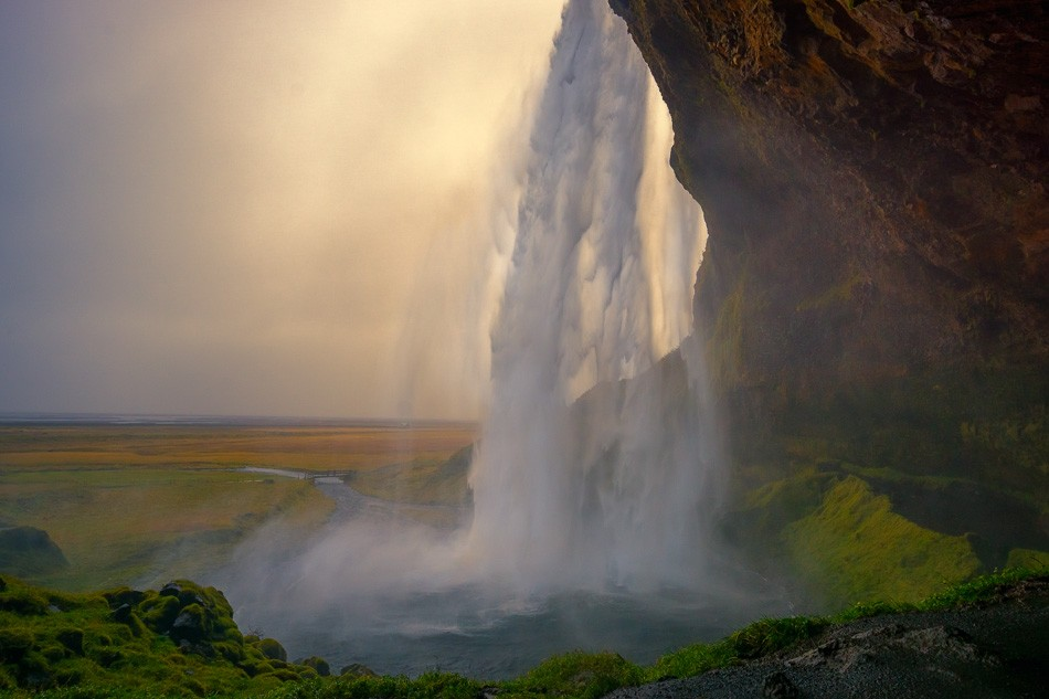 Seljalandsfoss Waterfall, Iceland by Anne McKinnell