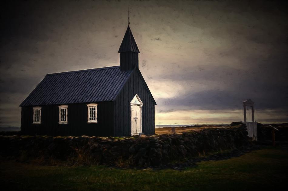 Black chuch at Budir, Iceland