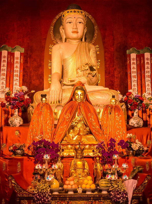 Jade Buddha inside the Jing'an Temple, Shanghai, China